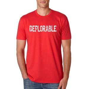 Donald J. Trump Deplorable T-Shirt Red